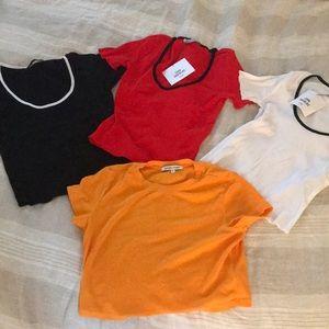 Brand new Zara and cotton citizen crop tees bundle